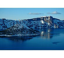 Crater Lake Winter Landscape Photographic Print
