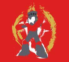 Robot Master Fire Man Vector Design Kids Clothes