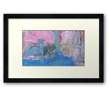 edge of lake Framed Print