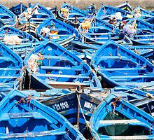 Fishermen's boats in the port of Essaouira, Morocco by Kate Schofield