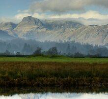 The Langdale Pikes In November by Jamie  Green