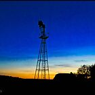 Water Pump at Sunset by Maxmel