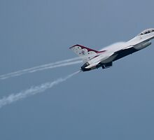 USAF Thunderbird 6 Throwing Vapor by Henry Plumley
