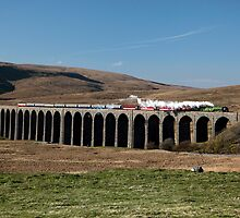 Tornado Steams Across Ribblehead Viaduct by Jan Fialkowski