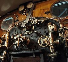York Railway Museum Steam Engine Controls 2 by Jan Fialkowski