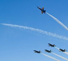 Blue Angels Break to Land by Henry Plumley