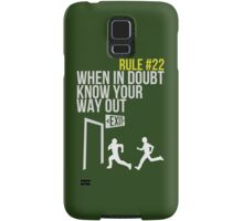 Zombie Survival Guide - Rule #22 - When In Doubt, Know Your Way Out Samsung Galaxy Case/Skin