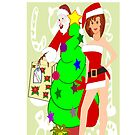 Santa & Mrs Clause ! :- I Phone case by aldona