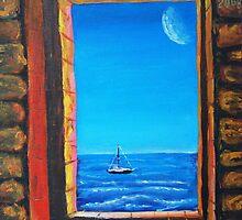 Oil Painting - A Window to the World, 2009 by Igor Pozdnyakov