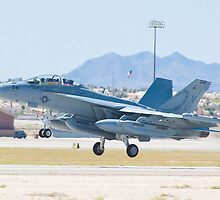 166895 EA-18G Growler Taking Off by Henry Plumley