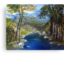 Where the river flows Canvas Print