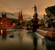 Archibald Fountain & St Mary Cathedral by Amelia Chen