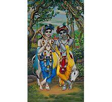 Krishna and Balaram Photographic Print