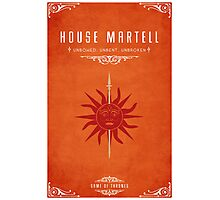 House Martell Photographic Print