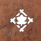 Vintage Japanese Stencil Family Crest Kamon Plum Blossom A18 by souzoucreations