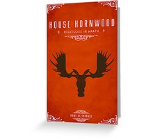 House Hornwood Greeting Card