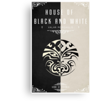 House of Black and White Canvas Print