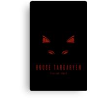 House Targaryen Minimalist Poster Canvas Print
