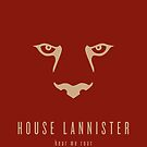 House Lannister Minimalist Poster by liquidsouldes