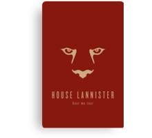 House Lannister Minimalist Poster Canvas Print