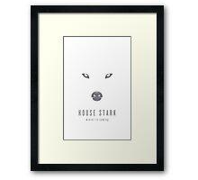 House Stark Minimalist Poster Framed Print