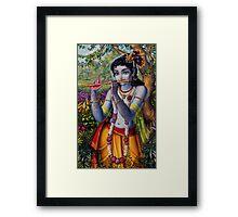 Krishna with flute Framed Print