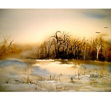 Beyond Silence....Winter Landscape.. Photographic Print