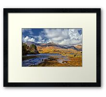 Ballynahinch lake at Ballinafad Connemara Galway Ireland. Framed Print