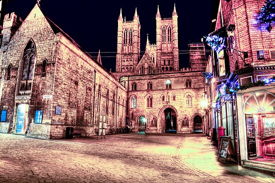 Lincoln Cathedral At Night by Paul Thompson Photography