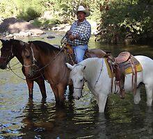 Rancher and guide - Ranchero y guia de turistas by Bernhard Matejka