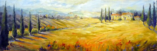 The hills of Tuscany by Ivana Pinaffo