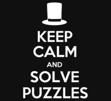 Keep Calm and Solve Puzzles Kids Clothes