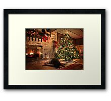 Waiting for Santa Framed Print