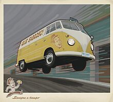 Vintage Air-Cooled Van Poster by mitchfrey