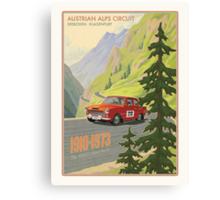 Vintage Austrian Rally Poster Canvas Print