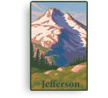 Vintage Mount Jefferson Travel Poster Canvas Print