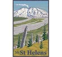 Vintage Mount St. Helens Travel Poster Photographic Print