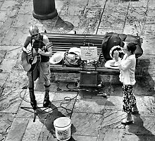 Street Musicians, Playing For Bucket Money by SuddenJim