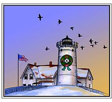 Nobska Lighthouse Wreath by Tamara Clark