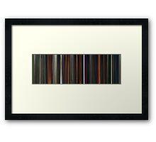 Moviebarcode: Coraline (2009) Framed Print