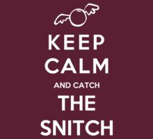 Keep Calm And Catch The Snitch by Royal Bros Art