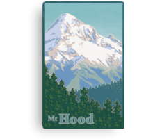 Vintage Mount Hood Travel Poster Canvas Print