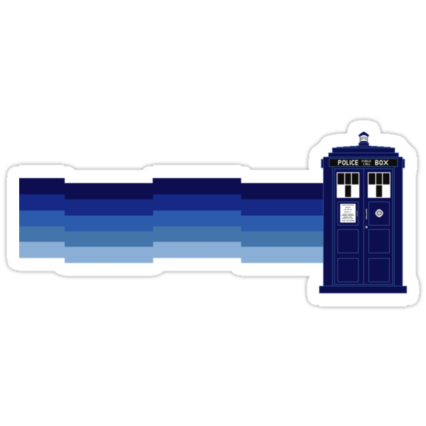 Vworp Cat (or Nyan Tardis) Sticker by fohkat
