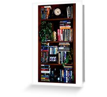 Office Library Shelf Greeting Card