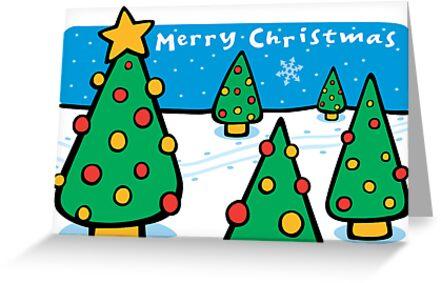 Christmas Landscape Card  by KenRinkel