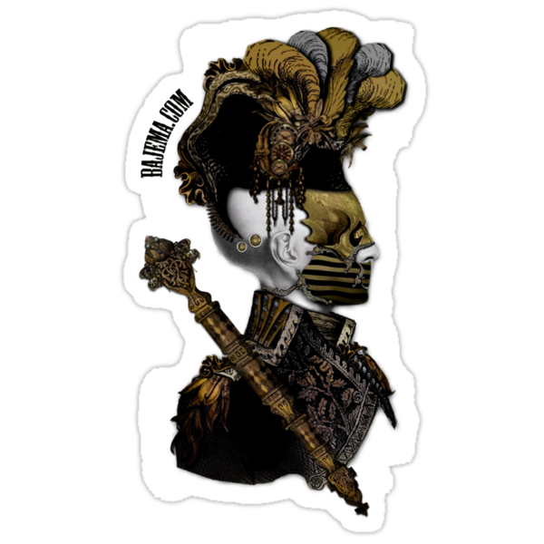 The Dread Captain Sticker by Bethalynne Bajema