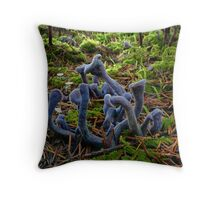 Purple Laccaria ~ Laccaria amethystine ~ Throw Pillow