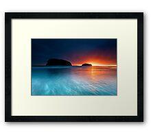 Whangamata Island Dawn Blast Framed Print