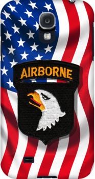 101st Airborne - American Flag - iPhone Case by Buckwhite