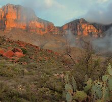 Guadalupe Mountains At Sunrise by Stephen Vecchiotti